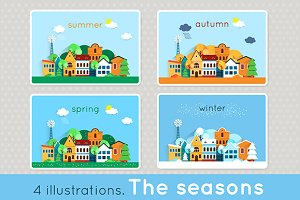 Winter, spring, summer, autumn.