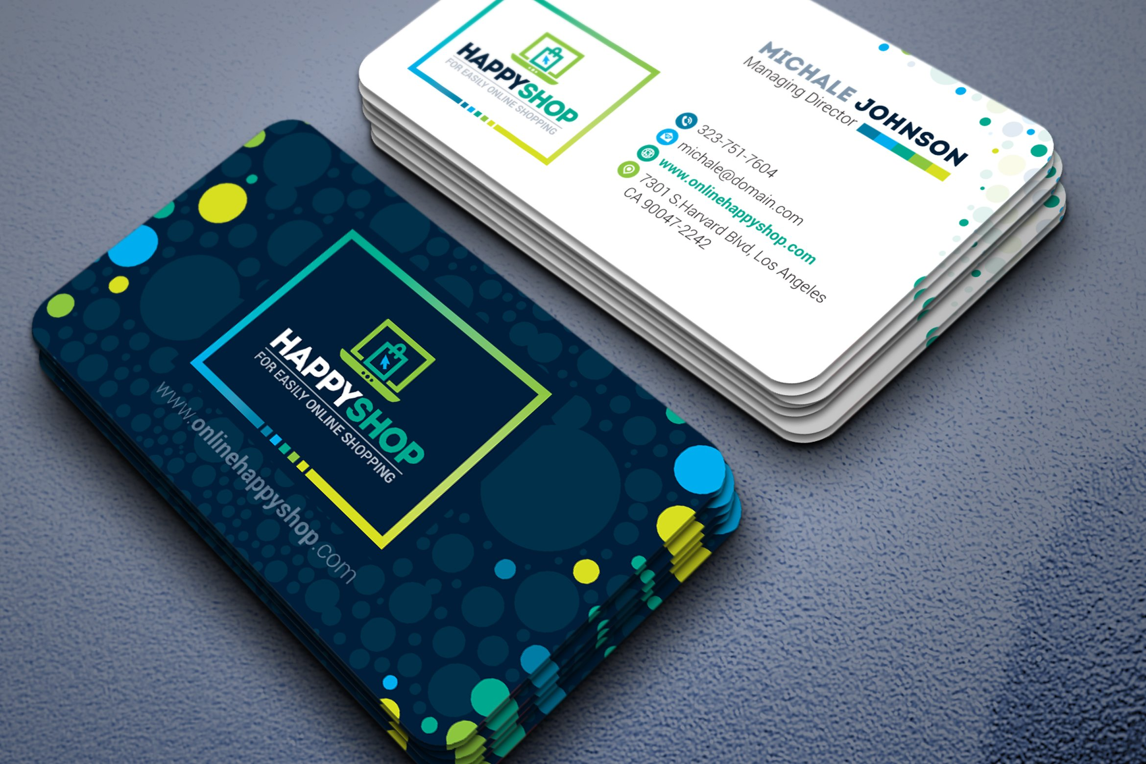 Business card for e commerce shop business card templates business card for e commerce shop business card templates creative market reheart Image collections