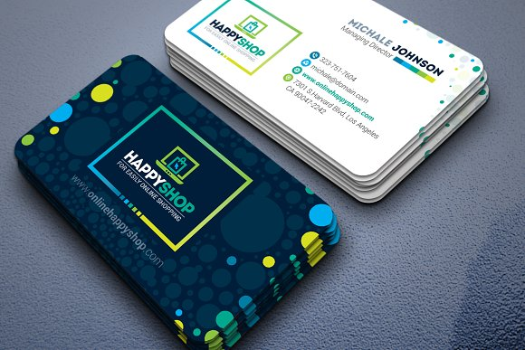 Business card for e commerce shop business card templates business card for e commerce shop business cards accmission Images