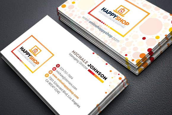 Business Card For E Commerce Shop Business Card Templates