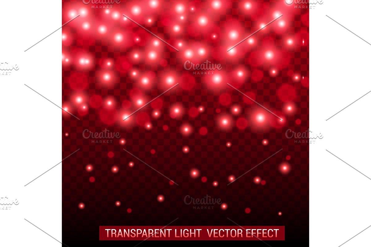 Transparent light vector effect.