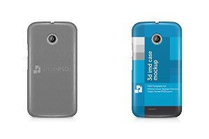 Motorola Moto E 3d IMD Mobile Case