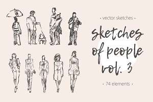 Sketches of different people, vol. 3