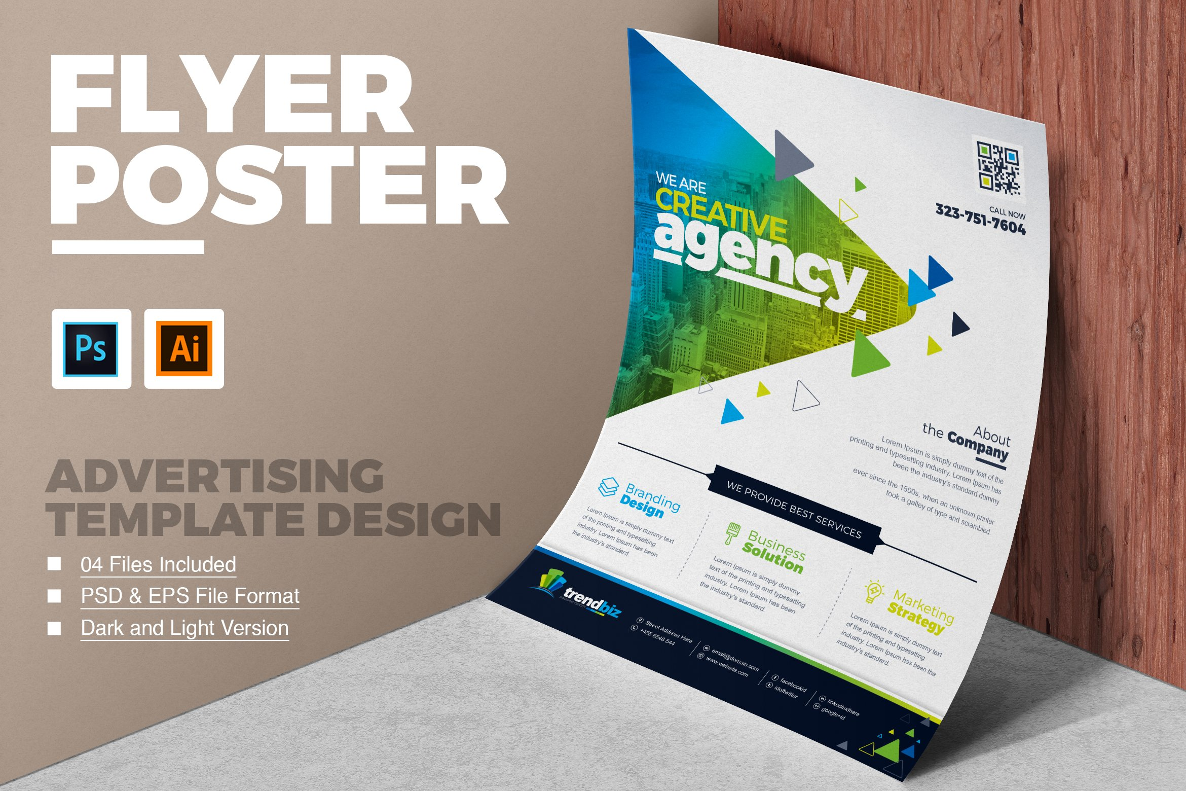 Corporate business flyer template flyer templates creative market flashek Images