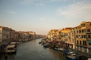 Grand Canal at morning , Venice , It