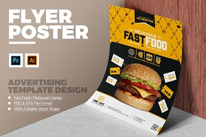 Fast Food and Restaurant Poster