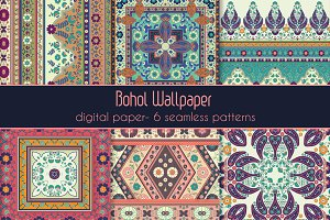 Boho Style Four Patterns
