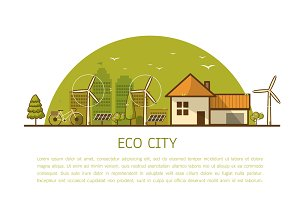 eco home concept banner