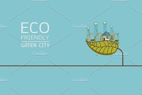 Vector Illustration Of Eco City