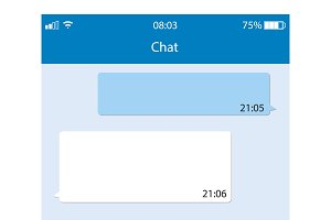 messaging app speech bubbles