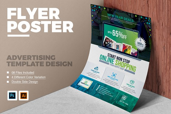 product promotional flyer poster flyer templates creative market