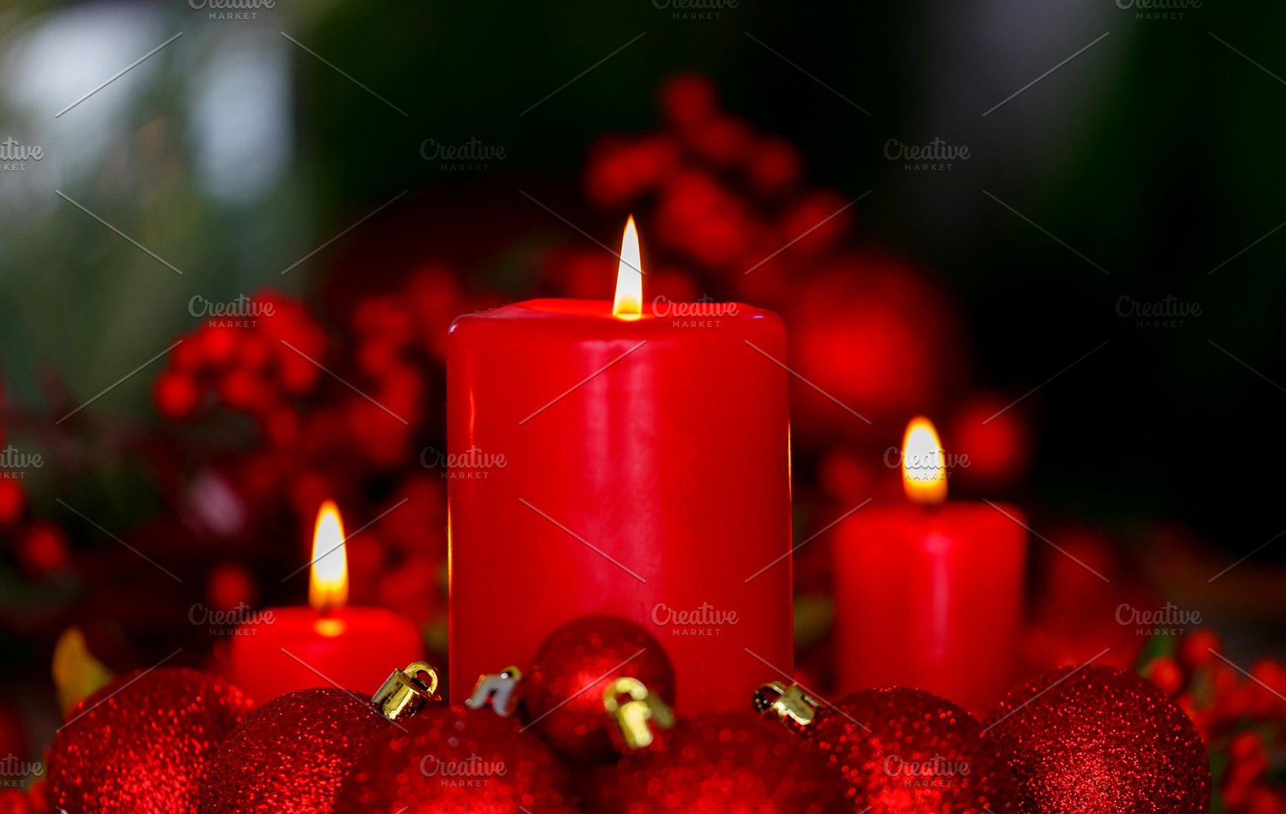 Christmas Candles.Christmas Candles