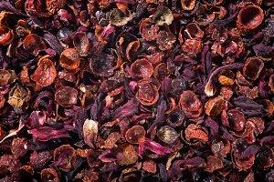 Rosehip tea background