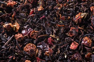 Black tea background