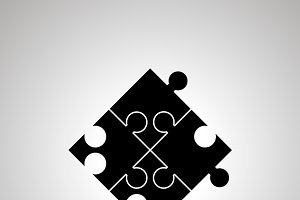 Jigsaw piece puzzle simple icon
