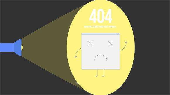 Vector 404 Page