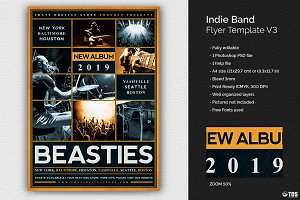 Indie Band Flyer Template V3