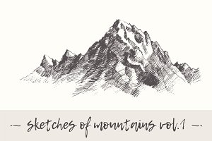 Set of sketches of mountains, vol. 1