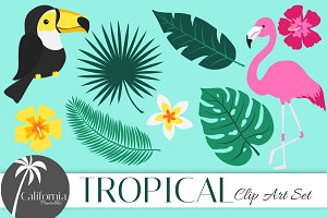 Tropical Clip Art Set