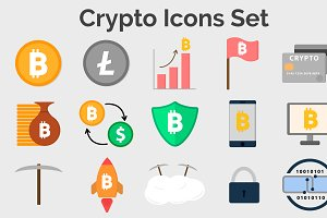 Crypto Icons Set (15 icons)