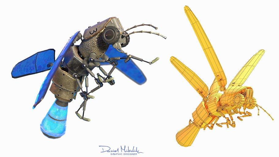 Lightning Bug PBR RIG+ANIM