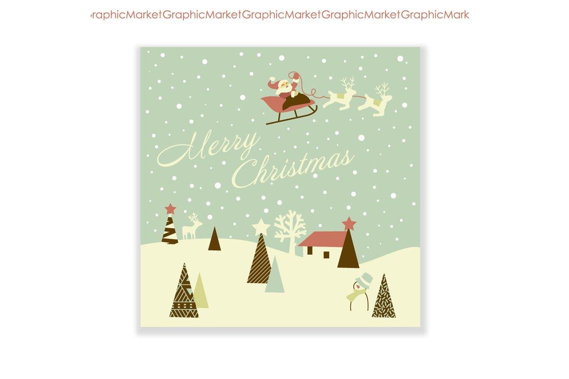 Christmas hand drawn retro cards illustrations creative market m4hsunfo