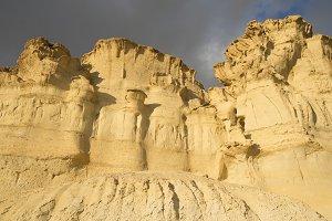Erosion on sandstone