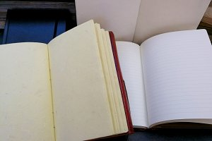 Notebooks of recycled paper