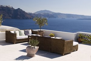 Terrace in Oia