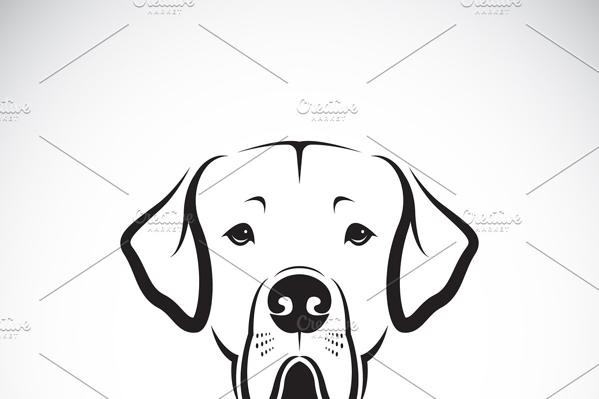Vector Of Great Dane Dog Head Icons Creative Market