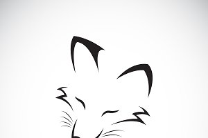 Vector of a fox face design. Animal.