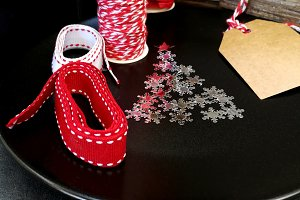 Ribbons to tie Christmas gifts