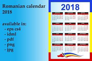 Romanian calendar 2018