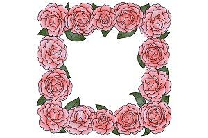 Camellia Square Frame
