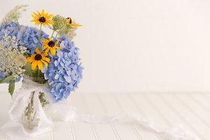 Blue Hydrangea Styled Mock Up