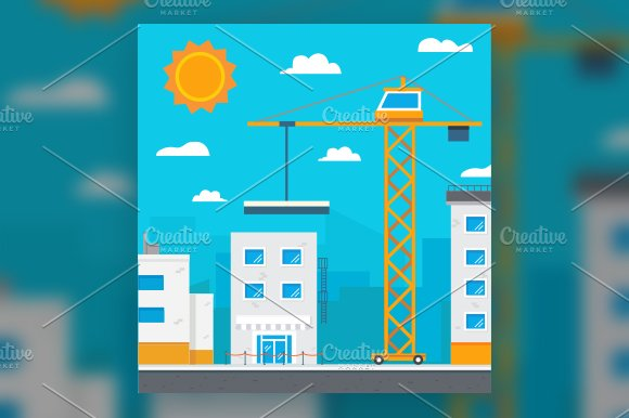 Building crane vector.Construction - Illustrations