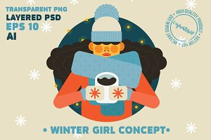 Girl Winter Character
