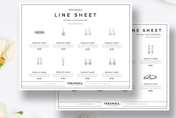 Minimalist Line Sheet Template