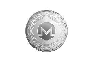 Silver ethereum coin symbol.