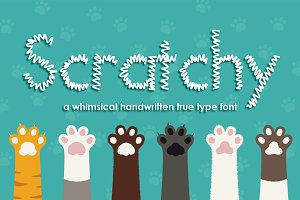 Scratchy Hand Drawn Font