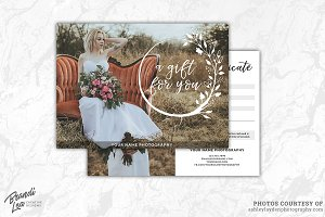 Photography Gift Certificate Templ