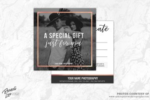 Photography Gift Certificate Templa