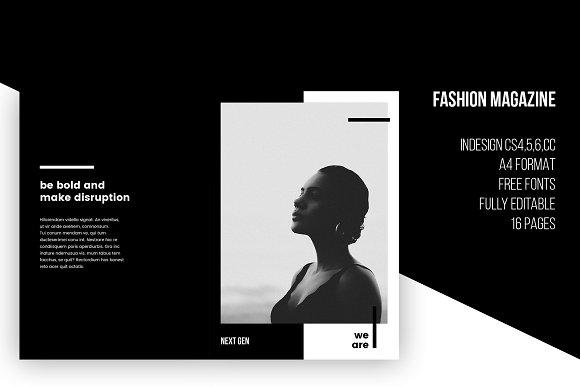 Fashion Magazine InDesign Template