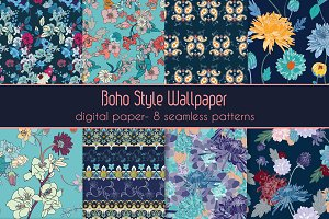 Blue Vector Pattern Pack
