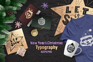 New Year&Christmas Typography