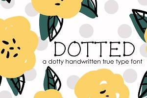 Dotted Hand Drawn Font