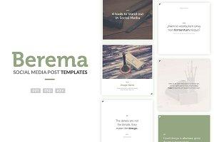 Social Media Post Templates - Berema