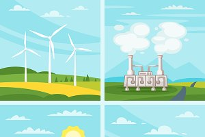 Green power illustrations
