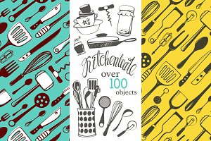 Kitchenware Hand-drawn Set