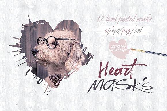 Heart masks. Instagram.